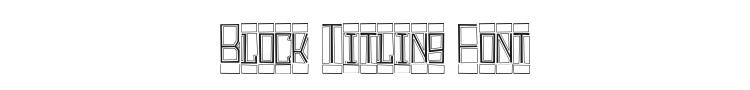 Block Titling Font Preview