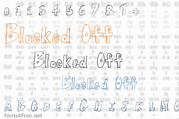 Blocked Off Font