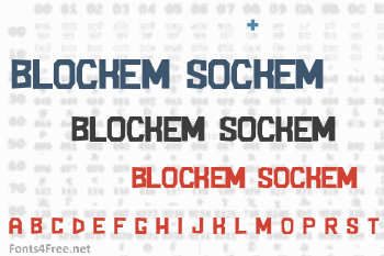 Blockem Sockem Font