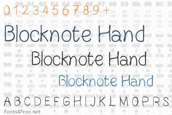Blocknote Hand Font