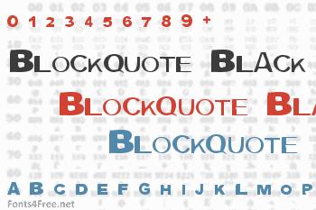 Blockquote Black Font