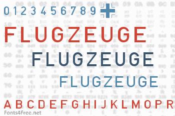 Blockschrift fur Flugzeuge Font
