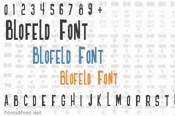 Blofeld Font
