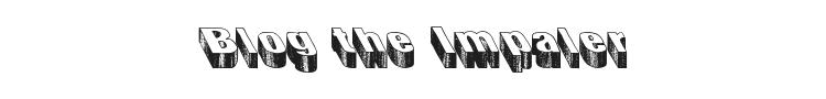 Blog the Impaler Font Preview