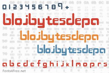 Blojbytesdepa Font