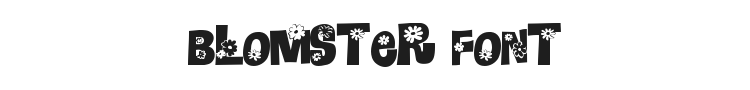 Blomster Font Preview