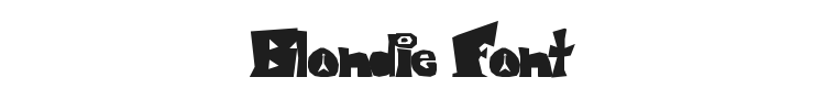 Blondie Font Preview