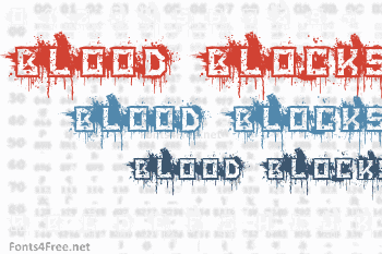 Blood Blocks Font