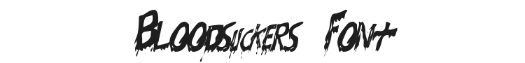 Bloodsuckers Font Preview