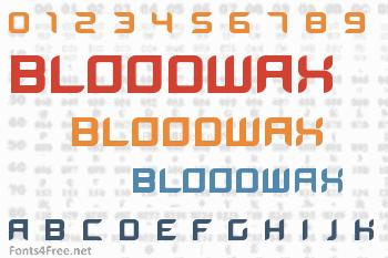 BloodWax Font