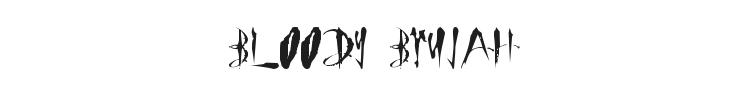 Bloody Brujah Font