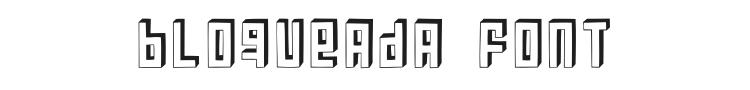 Bloqueada Font Preview