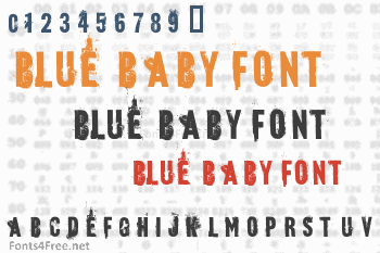 Blue Baby Font