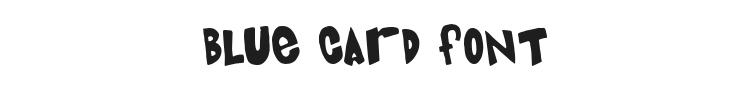 Blue Card Font