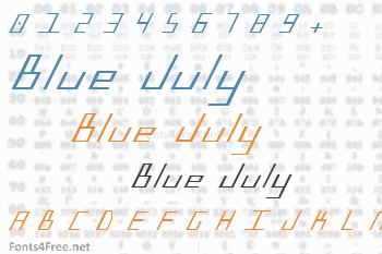 Blue July Font