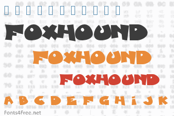 Blueberry Foxhound Font
