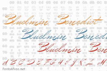 Bluelmin Benedict Font