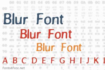 Blur Font