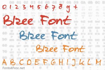 Blzee Font