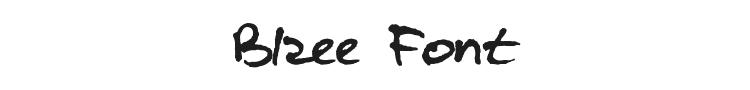 Blzee Font Preview