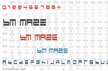 BM Maze Font
