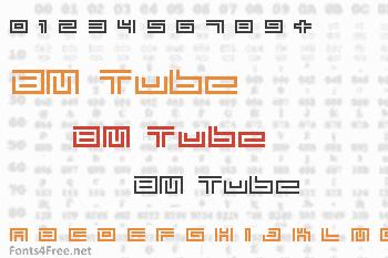 BM Tube Font