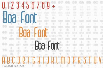Boa Font