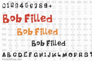 Bob Filled Font