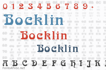 Bocklin Font