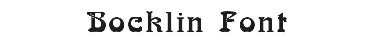 Bocklin Font Preview