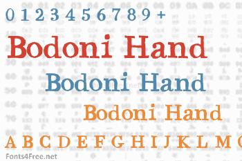 Bodoni Hand Font