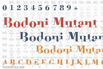 Bodoni Mutant Font