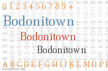 Bodonitown Font