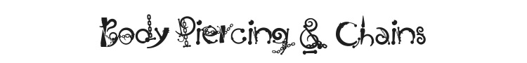 Body Piercing & Chains Font Preview