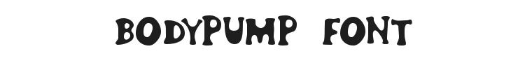 Bodypump Font