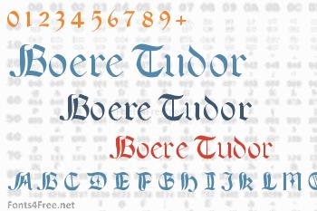 Boere Tudor Font