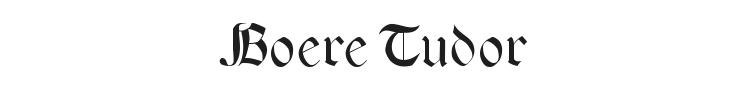 Boere Tudor Font Preview