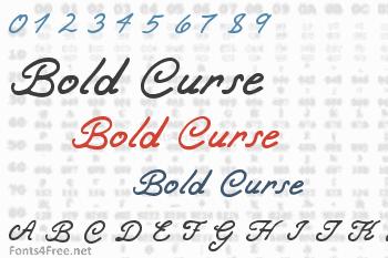 Bold Curse Font