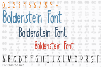 Boldenstein Font