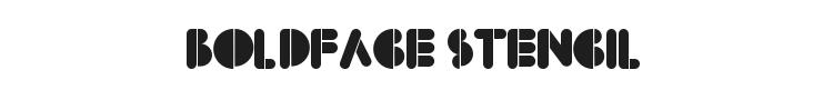 BoldFace Stencil Font Preview