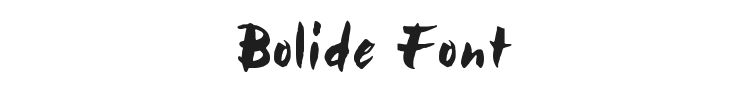 Bolide Font Preview