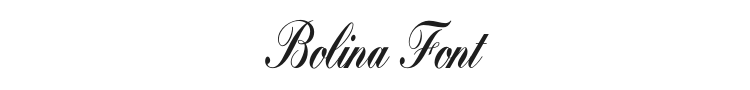 Bolina Font Preview