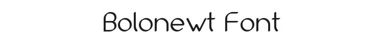 Bolonewt Font