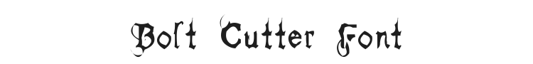 Bolt Cutter Font Preview