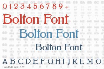 Bolton Font