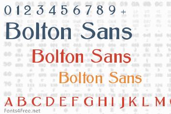Bolton Sans Font