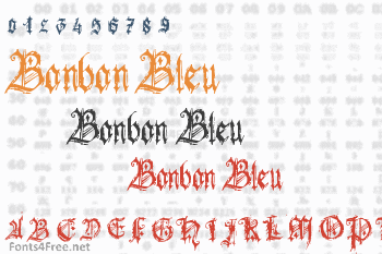 Bonbon Bleu Font