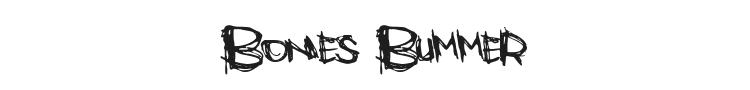 Bones Bummer Font Preview