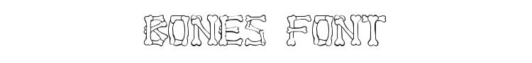 Bones Font Preview