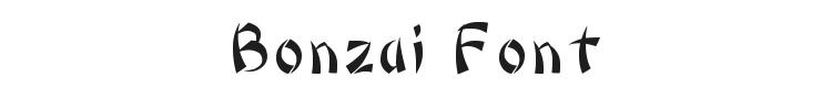 Bonzai Font Preview